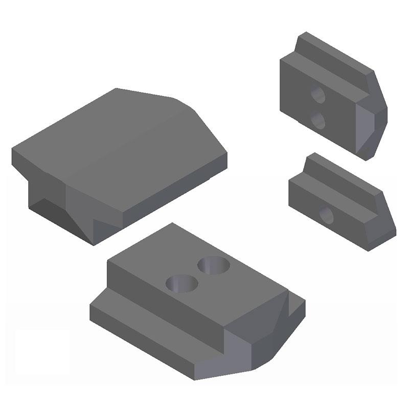 Piezas para guías de alambre rotatorias (Rotary wire guides)