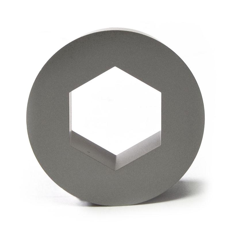 Núcleo con interior hexagonal para estampación en frio
