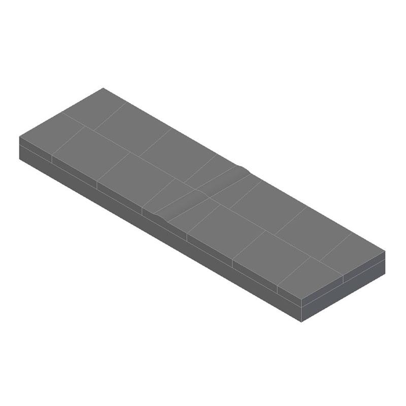 Placas para moldes de refractario, con perfiles especiales, en grandes dimensiones y rectificadas, listas para su montaje final.